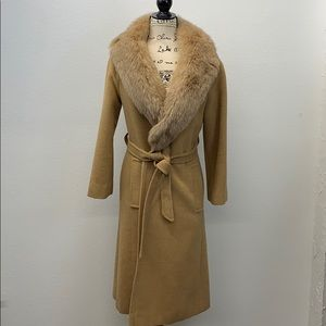 Vintage Singers by Kezars Camel Hair Length Trench